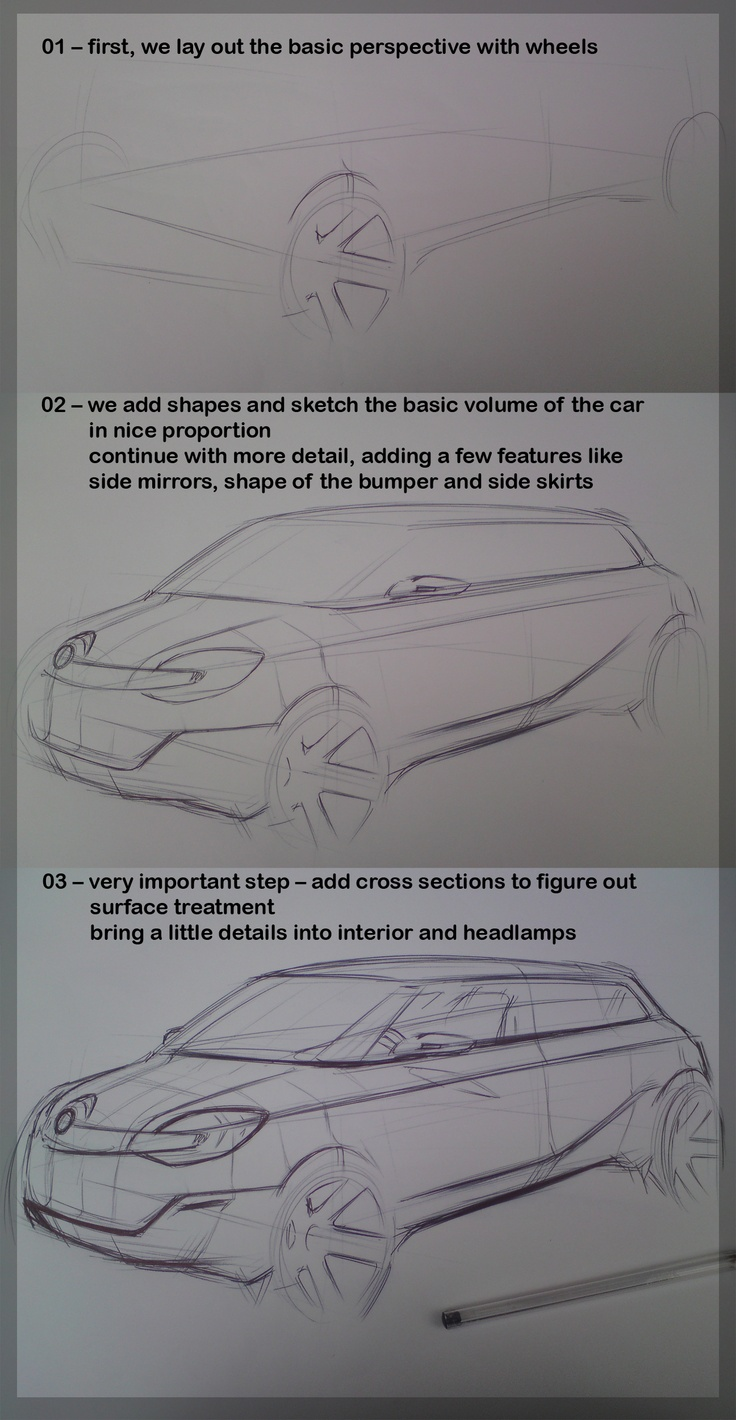 Open door drawing perspective - How To Draw Cars A Sketch Tutorial