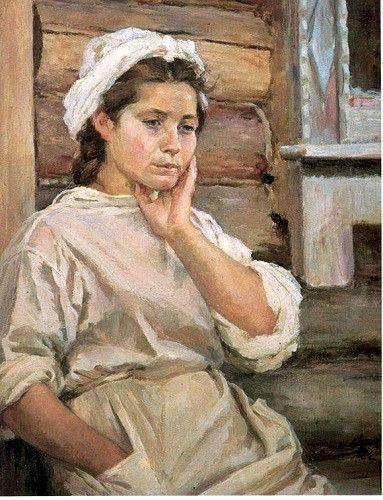 Картины о Великой Отечественной войне. Медсестра. В свободную минуту. 1945год. Шегаль Г.М.