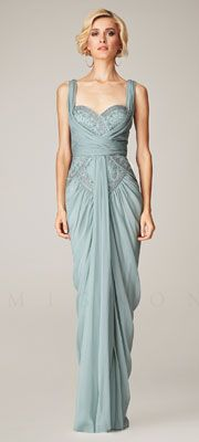Great Gatsby Prom Dresses -  Mignon Spring 2014 Dresses - Blue Mist Beaded Gathered Sweetheart Prom Dress $518.00  #prom #greatgatsby