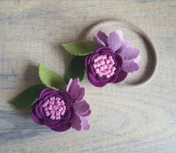BERRY BLISS - single bloom / single flower / nylon headband / felt flower headband / felt flower clip / flower hairclip / felt in bloom