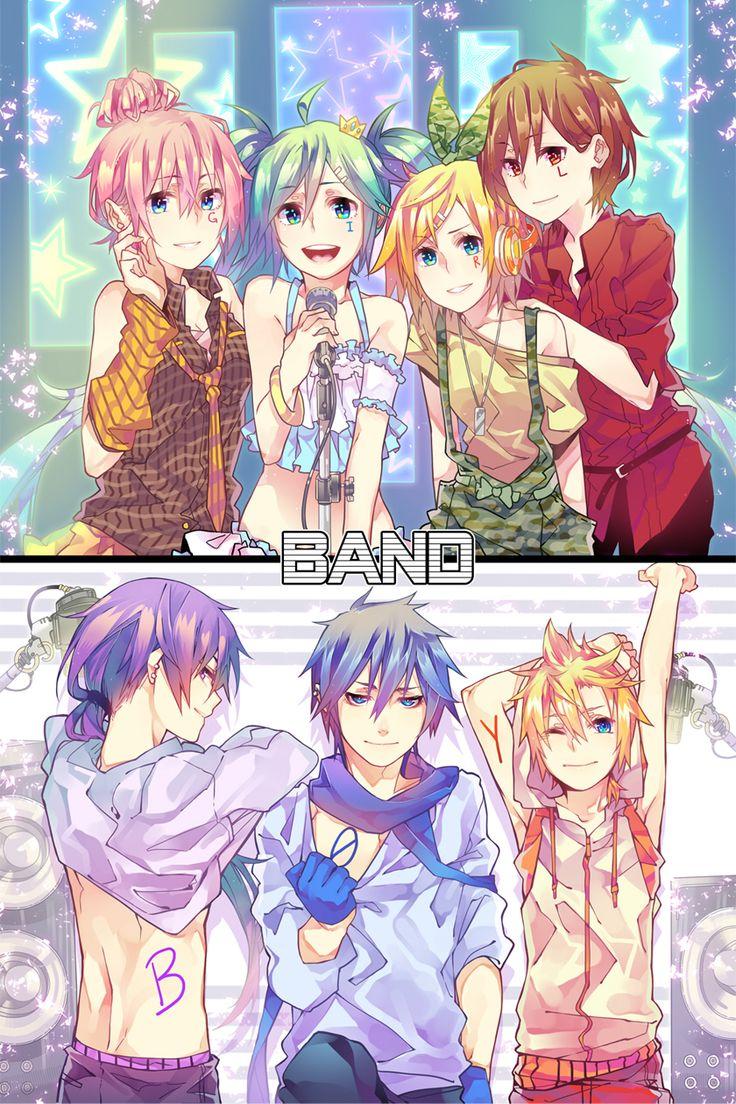 Vocaloid Girl/Boy Band | Vocaloid | Pinterest | We ...