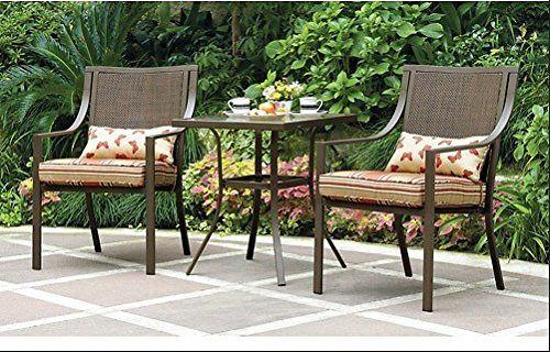 Mainstays Alexandra  Piece Bistro Outdoor Patio Furniture Set