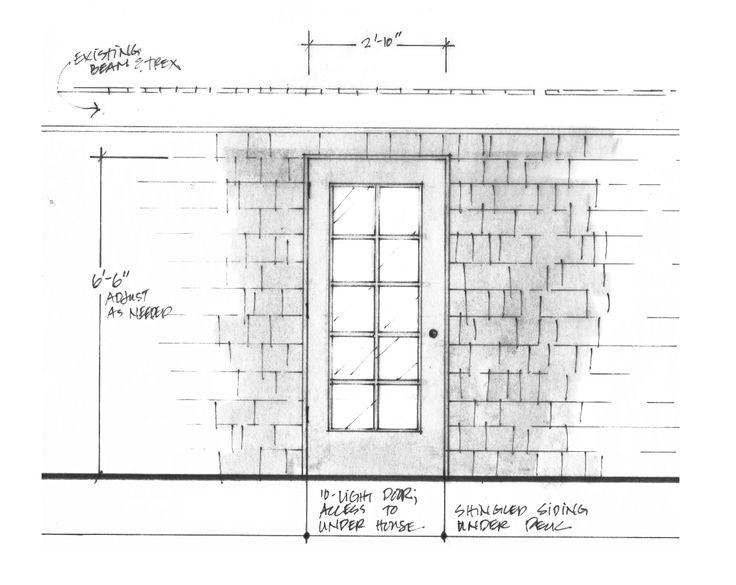 Door & siding detail.
