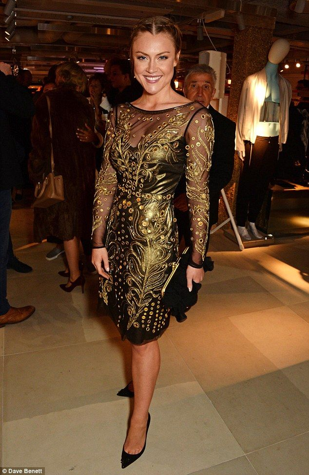 Camera-ready: On Wednesday evening classical singer Camilla Kerslake looked statuesque as ...
