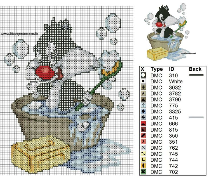 17 best images about cross stitch looney tunes on