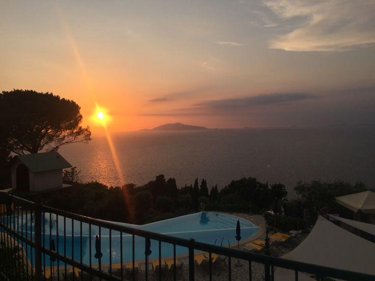 Sunset by Hotel Caesar Augustus, Anacapri. Summer concerts are unbelievable romantic! Discover Capri with your Tourist Guide! www.capritravelguide.com