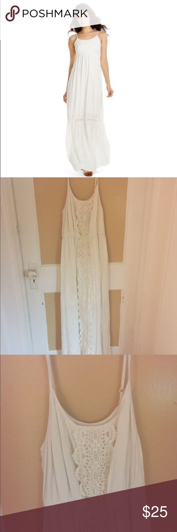 NWOT Boho Cream Dress New without tags.        Reasonable offers welcome. 🖤 Mossimo Supply Co. Dresses Maxi
