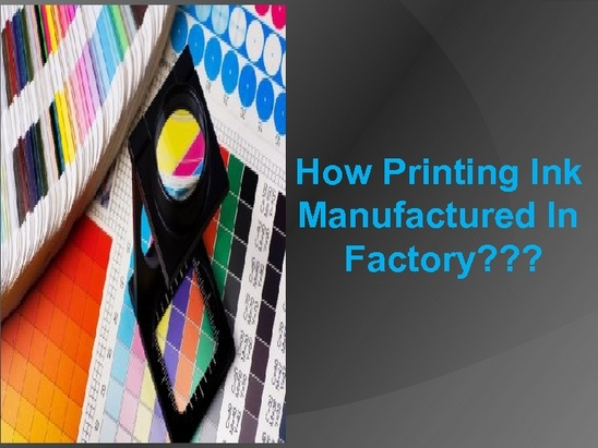 How printing ink #manufactured in factory????