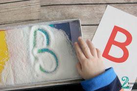 In English soon      Μια από τις πιο διασκεδαστικές δραστηριότητες για να μάθουν τα παιδιά να γράφουν.. Ένας δίσκος με αλάτι...           ...
