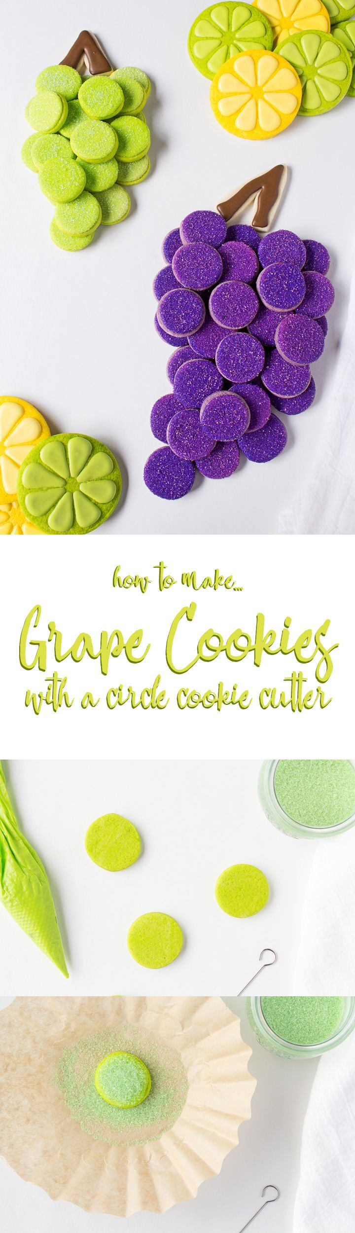 How to Make Grape Cookies | The Bearfoot Baker Decorated Sugar Cookies | Sugar Cookies | Roll Out Cookies | Royal Icing | Cookie Video | How to | Summer Cookies | Grape Cookies | The Bearfoot Baker