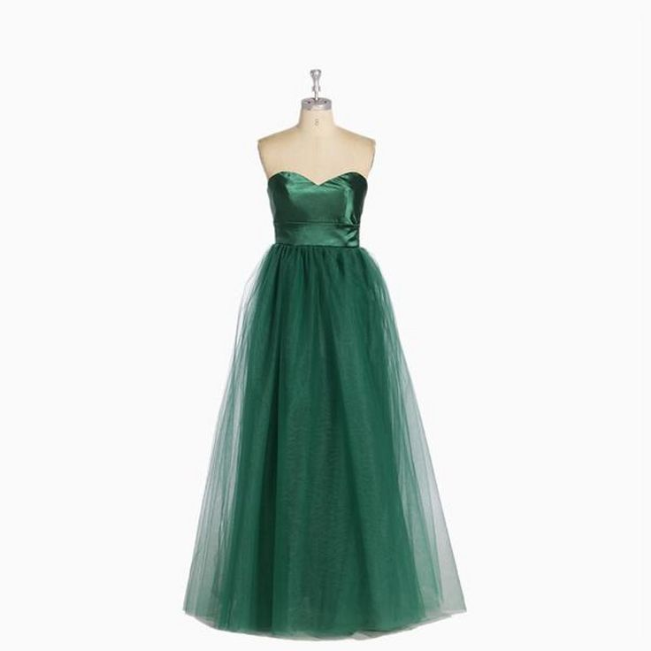 Find More Evening Dresses Information about Simple Old Green Tulle Formal Party Dress Real Image Modest Evening Dresses Long 2015 Evening Gowns Sweetheart Off  The Shoulder,High Quality gown dress,China dresse Suppliers, Cheap gown red from Amazing Dress Factory  on Aliexpress.com
