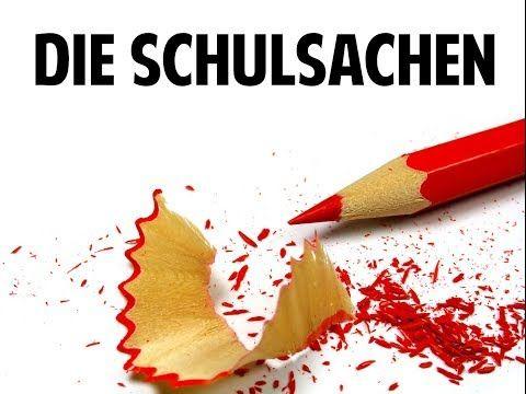 School Supplies: Schulsachen - excellent - clear, all main words  Textbook: TAMBURIN 1 - YouTube