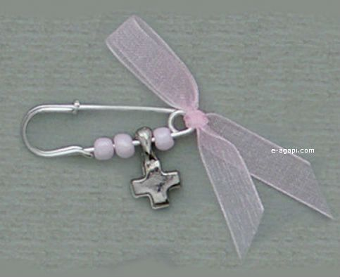 Baby girl baptism safety witness pins Handmade for baby girl christening Quantity options available The witness pins came in nicely box. ♥ OPTIONS