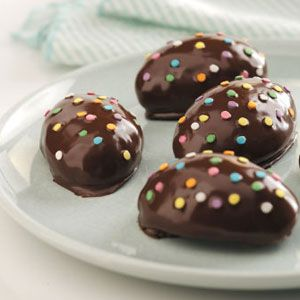 Peanut Butter Easter Eggs Recipe from Taste of Home -- shared by Mary Joyce Johnson of Upper Darby, Pennsylvania