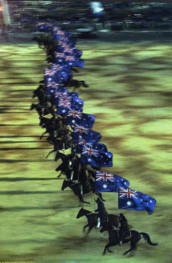 The Magnificent Australian Stock Horses at the Sydney 2000 Olympic Games Opening Ceremonies - from David Farmilo