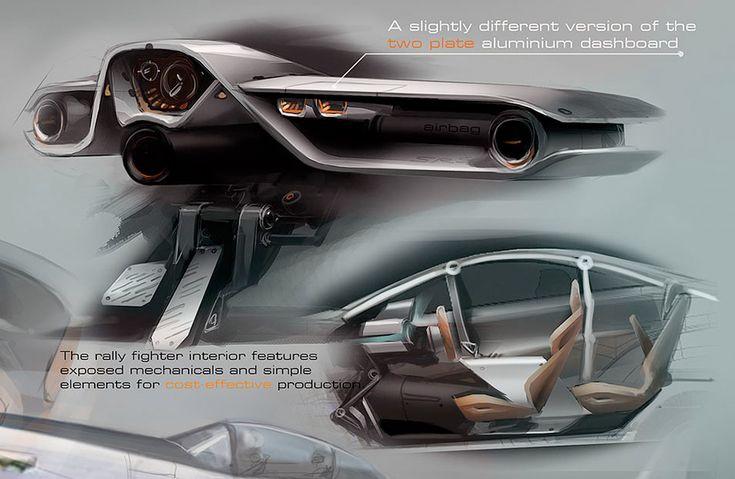 Rally Fighter Interior Design Sketch