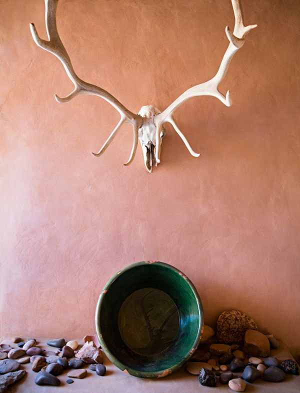 Inside the former home of Georgia O'Keefe in Abiquiu, New Mexico