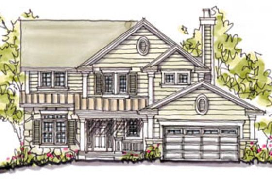 House plan 20 240 has it all in a moderate size home for Moderate house plans