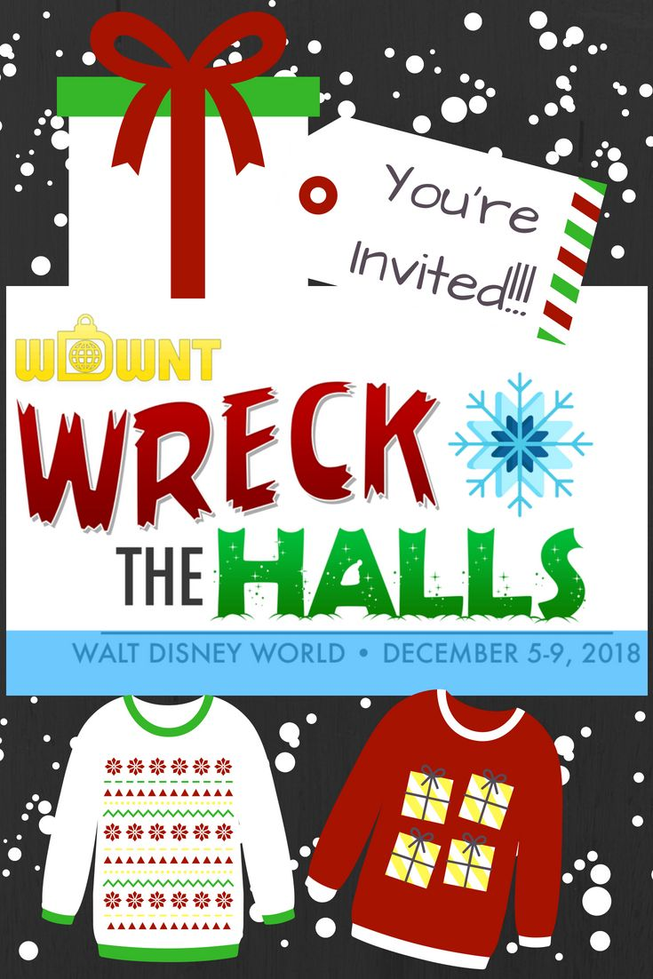 Register Now For Wdwnt Wrecks The Halls A Very Different Kind Of Holiday Event At Walt Disney World Disney World Walt Disney World Walt Disney
