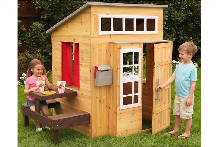 Cabane en bois kidkraft ext rieur moderne cabanes en for Maison moderne kidkraft