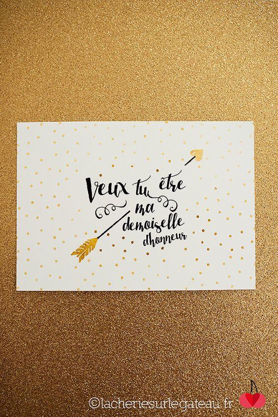 Carte de demande Demoiselle d'honneur - La Chérie Plus