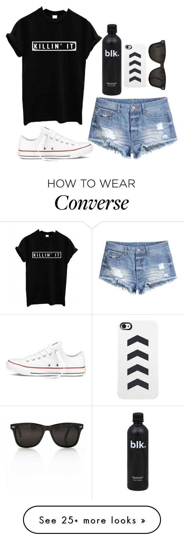 """Killin' It"" by twaayy on Polyvore featuring H&M and Converse"