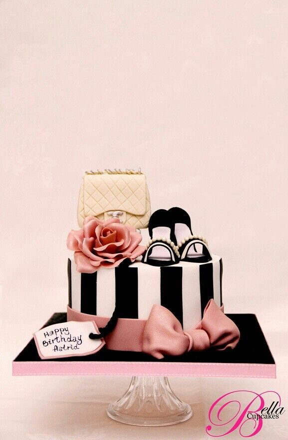 Shoe and purse cake