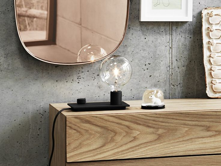 Small Grey Framed Mirror by Muuto