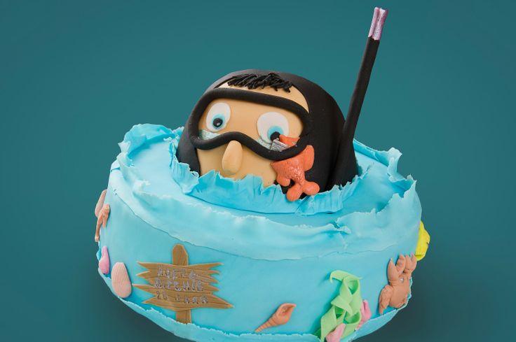 Duiker taart scuba diving cake