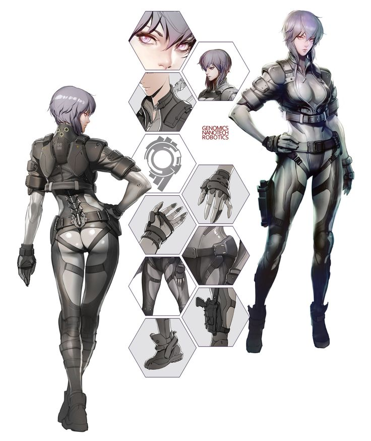 "playfirstassault: ""  Check out the Concept Artwork of Motoko! """