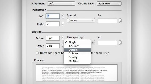 How to Double Space a word document in Two Keystrokes