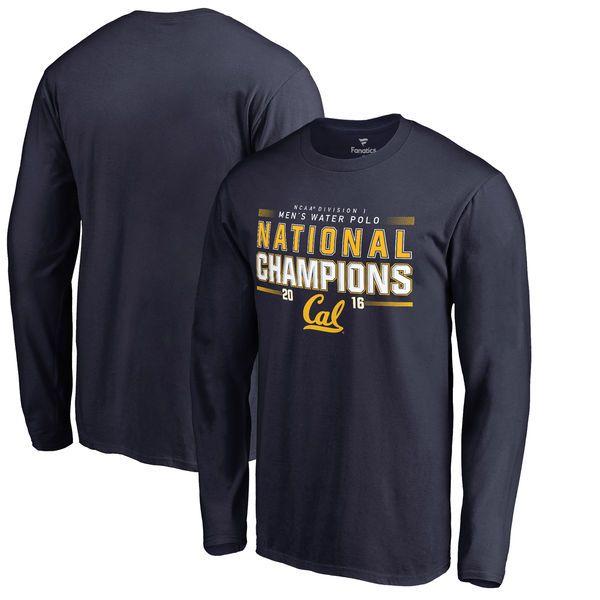 Cal Bears Fanatics Branded 2016 NCAA Men's Water Polo Champions Long Sleeve T-Shirt - Navy - $27.99