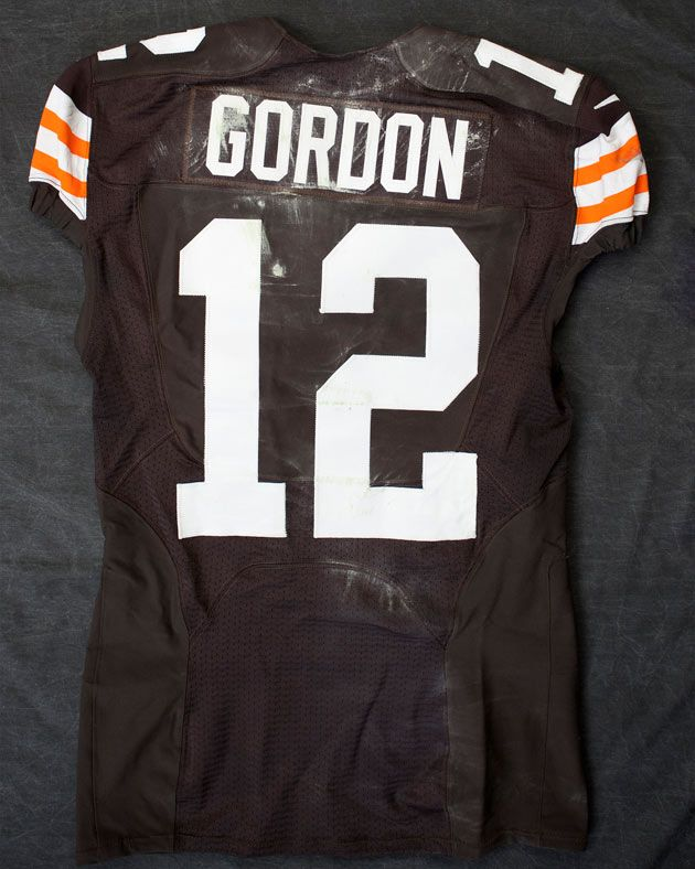 josh gordon game worn jersey
