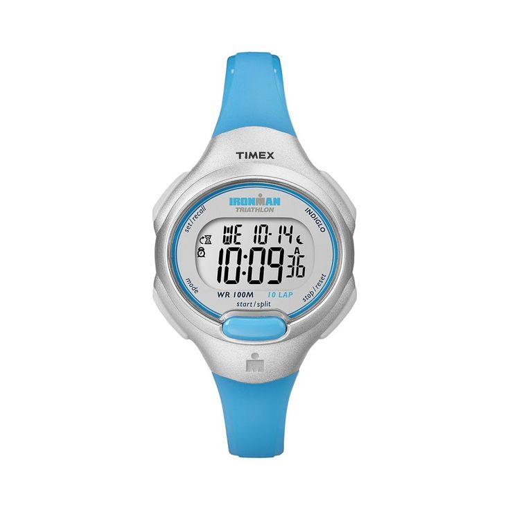 Timex Women's Ironman Triathlon Digital 10-Lap Chronograph Watch, Blue