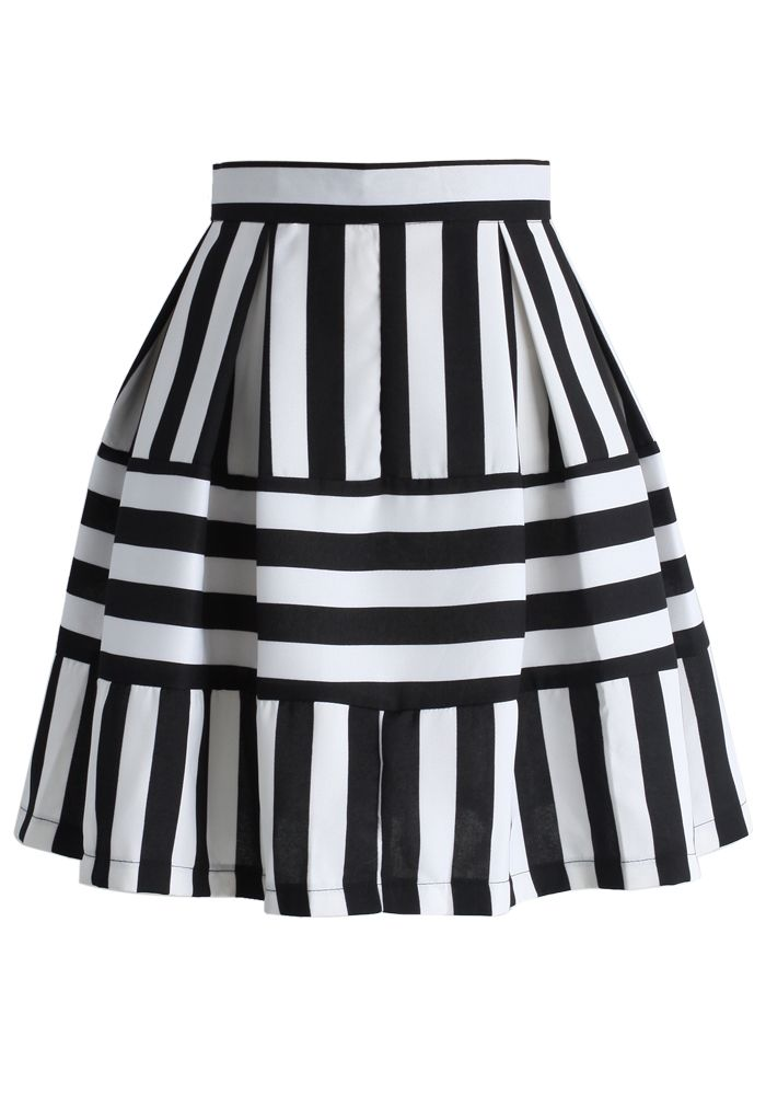 Playful Stripes A-line Skirt - New Arrivals - Retro, Indie and Unique Fashion