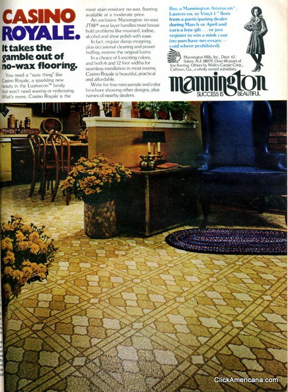 Get Down With These Groovy Vinyl Floors From The 70s Kitchen Floors Mannington Flooring And