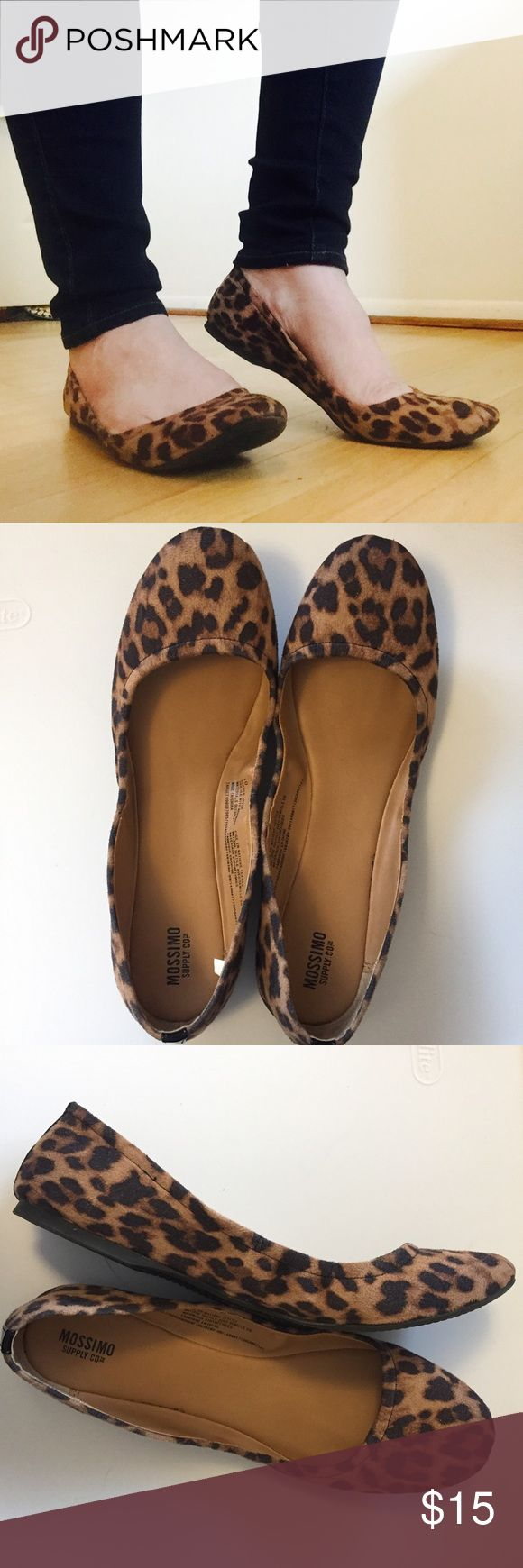 Mossimo | Leopard Print Ballet Flat Massimo Leopard Print Ballet Flats. Have a scrunchy style. Worn a couple times but no flaws. Fits true to size. Amazing as a closet neutral these can go with anything! Fit true to size. Mossimo Supply Co. Shoes Flats & Loafers
