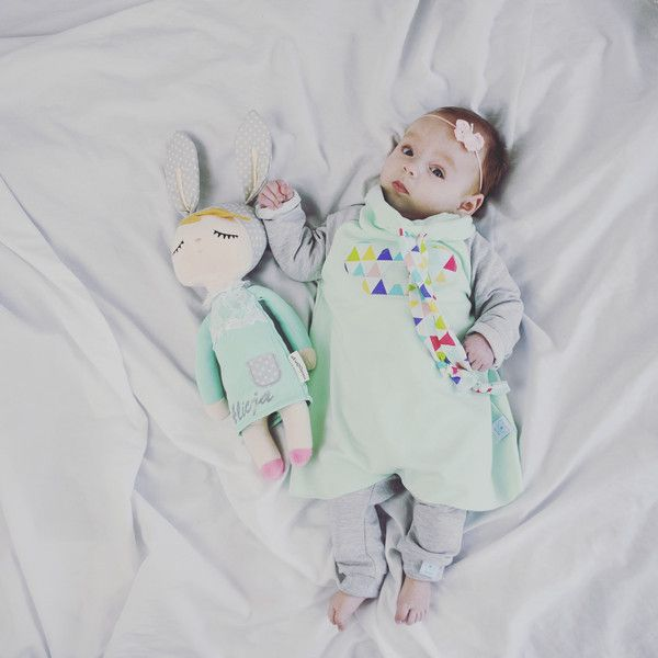 Sukienka z długim rękawem rozmiar 56-98 - bubabroi - Sukienki dla niemowląt