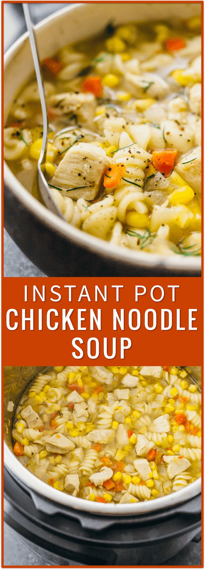 instant pot chicken noodle soup homemade easy from