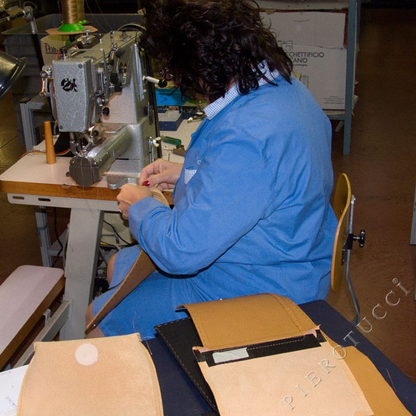 We are busy this morning! A bus load of curious shoppers have already visited our artisans on a leather #excursion this morning to watch as we sew together our #leatherhandbags. http://www.pierotucci.com/