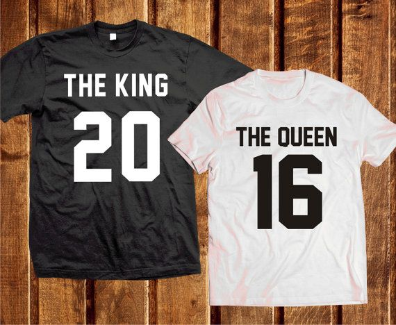 King Queen Couple Shirts, Queen King Shirts, Matching King and Queen 100% Cotton T-shirts