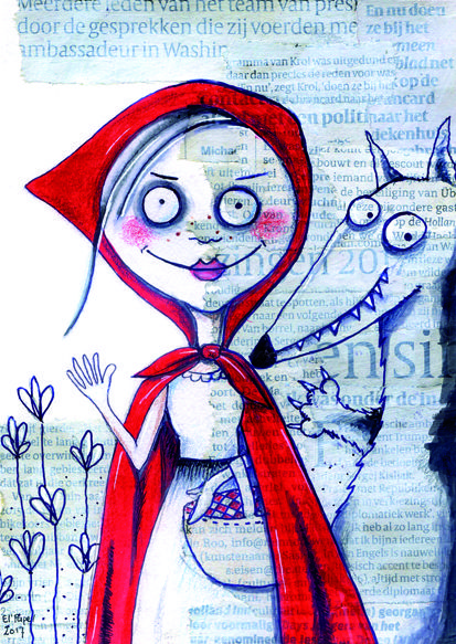 Originally made for a Swap Bot swap - Little Red Riding Hood (Roodkapje) by El' Papel