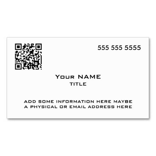253 best QR Code Business Card Templates images on Pinterest All - line card template