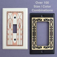 Art deco switch plates. beautiful designs