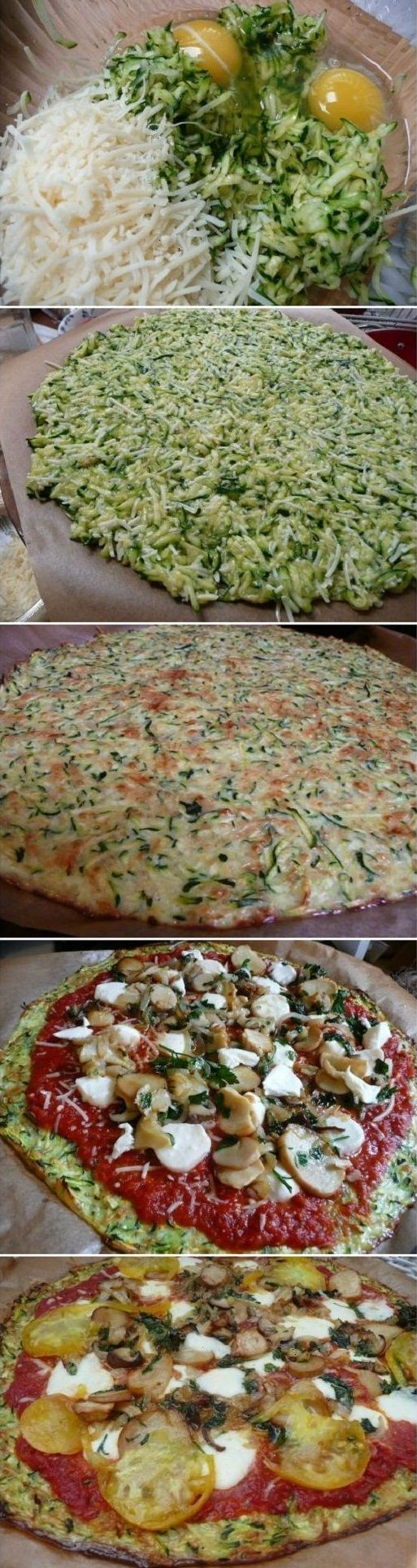 Zucchini Crust Pizza.. WOW favorite new healthy recipe!! .. Ladies, you will…
