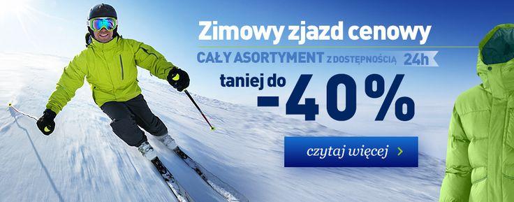 landersen.pl zimowy zjazd cenowy -40% na cały asortyment odzieży, obuwia i sprzętu turystycznego z dostępnością do 1 dnia