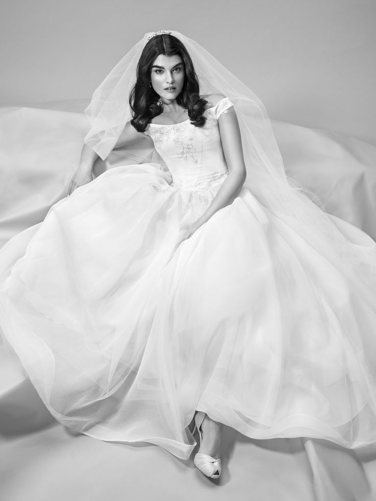 Truly zac posen off the shoulder wedding dress at david 39 s for Truly zac posen wedding dress with sequin detail