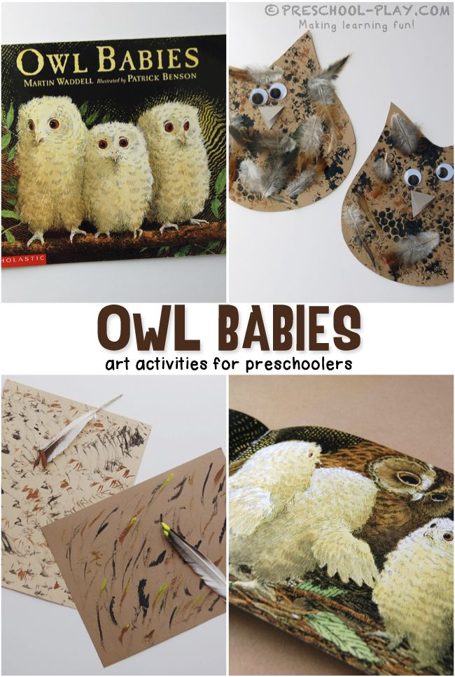 Owl Babies Activities - Preschool art extension activites for the book Owl Babies by Martin Waddel