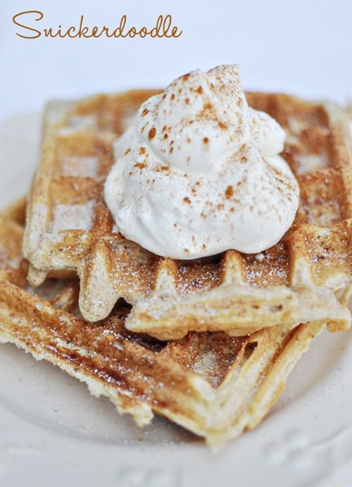 Snickerdoodle cookie waffle - I leveraged this recipe to modify a bisquick