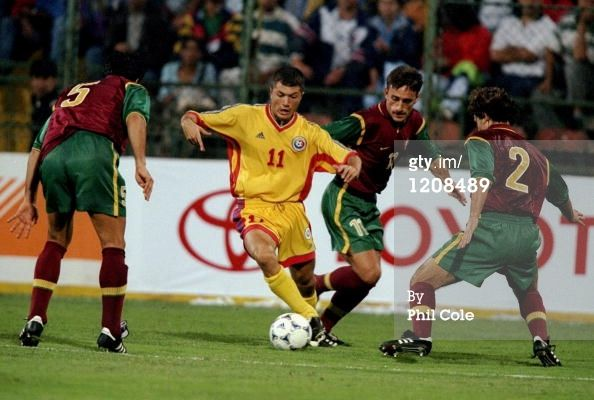 News Photo: Adrian Ilie of Romania on the ball during…